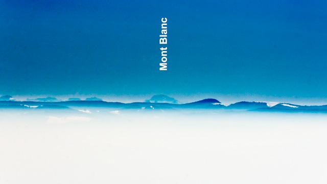 Fernsicht bis zum Mont Blanc