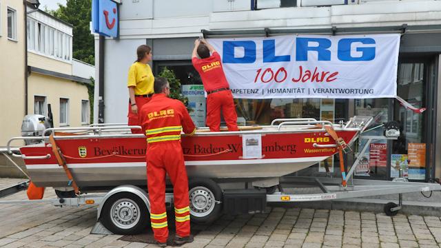 DLRG Hochwasserboot